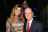 Cassadee Pope and Scott Hamilton pose for a photo backstage during <em>A Capitol Fourth</em> concert at the U.S. Capitol, West Lawn, on July 4, 2016 in Washington, DC.