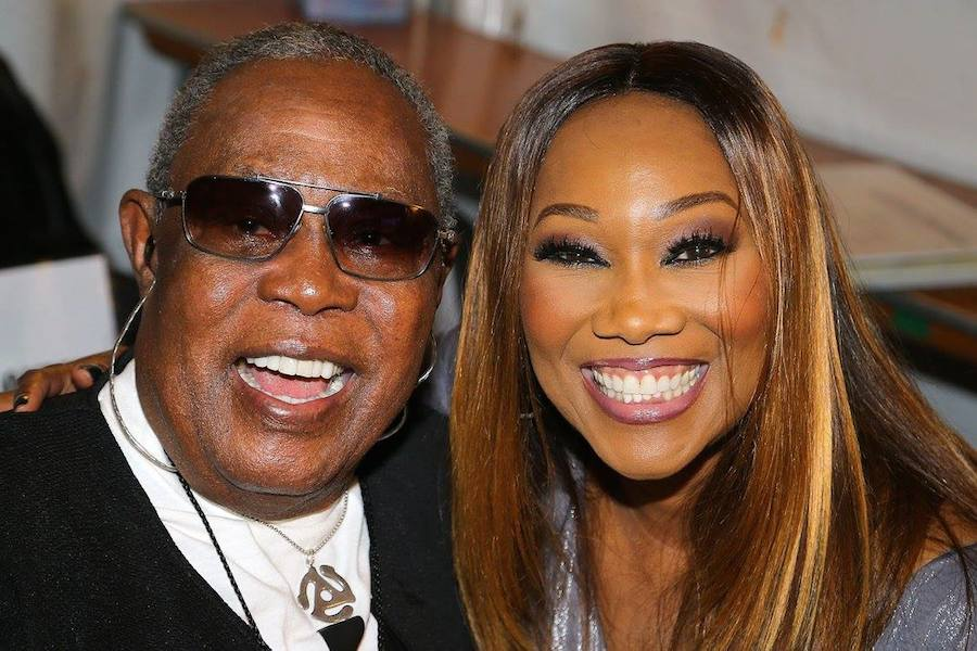 Music legends Sam Moore and Yolanda Adams backstage at <em>A Capitol Fourth</em> at U.S. Capitol, West Lawn on July 4, 2017 in Washington, DC. (Photo by Paul Morigi/Getty Images for Capital Concerts)