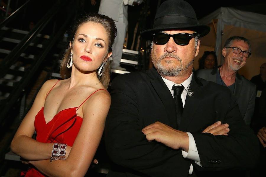 Broadway star and two-time Tony Award nominee Laura Osnes imitates Jim Belushi (R) of The Blues Brothers backstage at <em>A Capitol Fourth</em> at U.S. Capitol, West Lawn on July 4, 2017 in Washington, DC. (Photo by Paul Morigi/Getty Images for Capital Concerts)