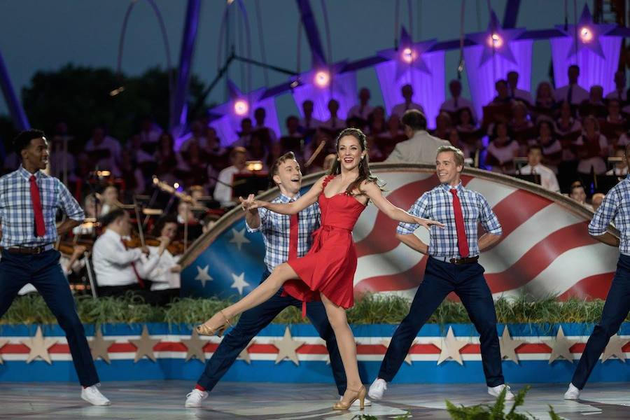 Broadway star and two-time Tony Award nominee Laura Osnes and dancers perform at <em>A Capitol Fourth</em> at U.S. Capitol, West Lawn on July 4, 2017 in Washington, DC.