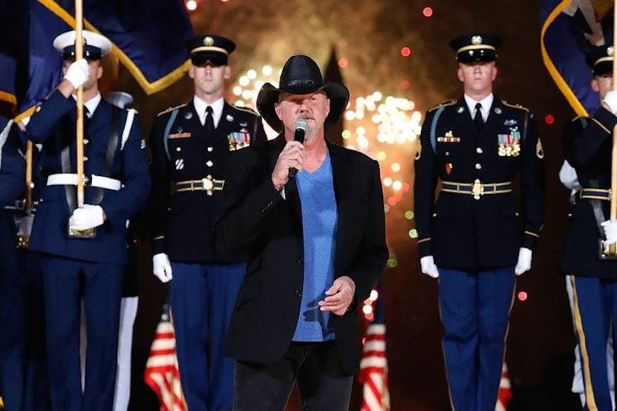 Country music star and Grammy-nominated member of the Grand Ole Opry Trace Adkins performs during the fireworks finale at <em>A Capitol Fourth</em> at U.S. Capitol, West Lawn on July 4, 2017 in Washington, DC. (Photo by Paul Morigi/Getty Images for Capital Concerts)