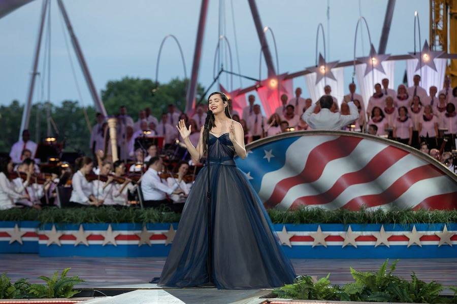 Sofia Carson performs at <em>A Capitol Fourth</em> at U.S. Capitol, West Lawn on July 4, 2017 in Washington, DC.
