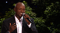 "Singer-songwriter Javier Colon performing ""Stand By Me."" (2012)"