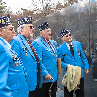 a group of military veterans