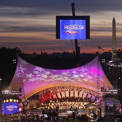 View of the National Memorial Day Concert