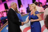 General Colin Powell and Megan Hilty during the 25th annual National Memorial Day Concert on the West Lawn of the U.S. Capitol, May 25, 2014, in Washington, DC.