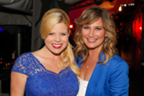 Megan Hilty (L) and Jennifer Nettles backstage at the 25th annual National Memorial Day Concert on the West Lawn of the U.S. Capitol, May 25, 2014, in Washington, DC.