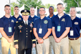 General Martin Dempsey and the Marine Color Guard before the dress rehearsal for the 2015 National Memorial Day Concert.
