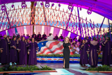 "Gloria Estefan and Patrick Lundy & the Ministers of Music perform ""Coming out of the Dark"" at the 2015 National Memorial Day Concert."