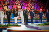 General Martin Dempsey is joined on stage by the Joint Chiefs of Staff on the 2015 National Memorial Day Concert.