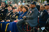 Honoree Ted Strong and his wife, Queen, watch from the audience during the 2015 National Memorial Concert.