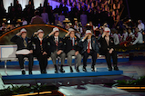"Veterans of the WWII Battle of Anzio salute as ""Taps"" is played at the 27th <em>National Memorial Day Concert</em>."
