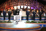 Gen. Joseph F. Dunford, Chairman of the Joint Chiefs of Staff, onstage with the Joint Chiefs of Staff at the 27th <em>National Memorial Day Concert</em> on May 29, 2016 in Washington, DC.