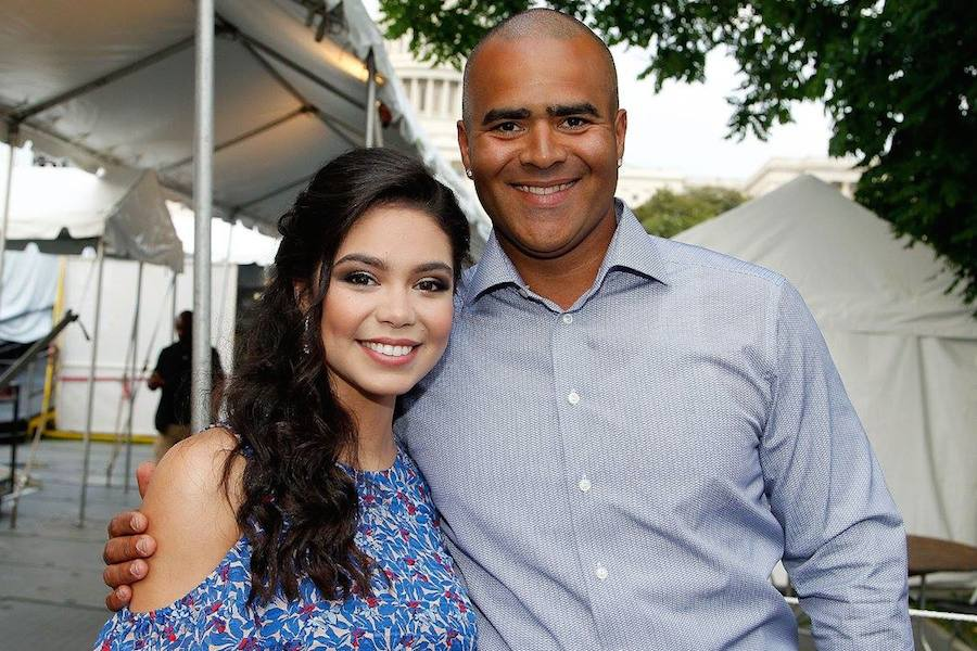 "Auli'i Cravalho of the hit Disney film ""Moana"" and Christopher Jackson, star of Broadway's ""Hamilton"" and CBS' ""Bull"" at PBS' 2017 <em>National Memorial Day Concert</em> - Rehearsals at U.S. Capitol, West Lawn on May 27, 2017 in Washington, DC. (Photo by Paul Morigi/Getty Images for Capital Concerts)"