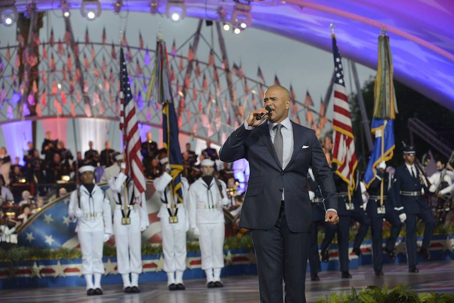 """Christopher Jackson, star of Broadway's """"Hamilton"""" and CBS' """"Bull"""" performs at PBS' 2017 <em>National Memorial Day Concert</em> at U.S. Capitol, West Lawn on May 28, 2017 in Washington, DC."""