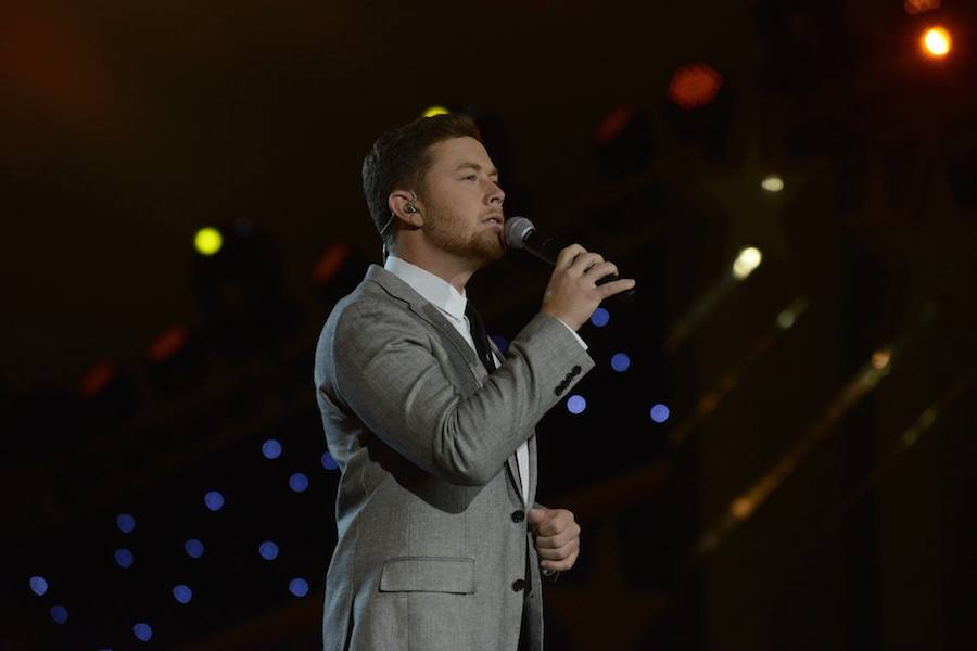 Country music artist Scotty McCreery performs at PBS' 2017 <em>National Memorial Day Concert</em> at U.S. Capitol, West Lawn on May 28, 2017 in Washington, DC.