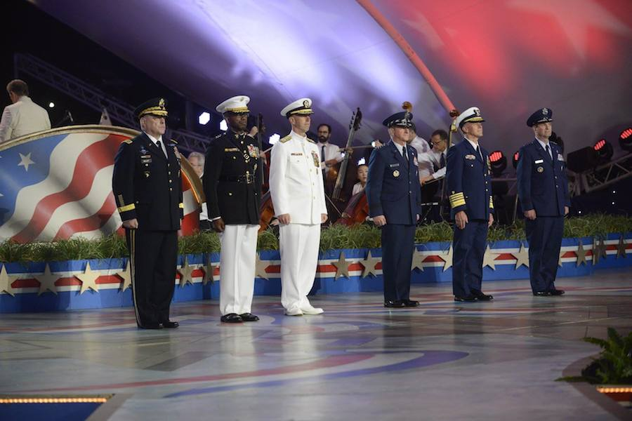 The Joint Chiefs of Staff at PBS' 2017 <em>National Memorial Day Concert</em> at U.S. Capitol, West Lawn on May 28, 2017 in Washington, DC.
