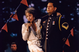 Rita Moreno performs a medley of war related compositions on the 1999 <i>National Memorial Day Concert</i>.