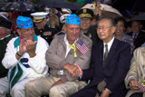 World War II veterans attend the <i>National Memorial Day Concert</i>.