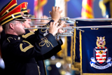 The U.S. Army Herald Trumpets performs regularly on the <i>National Memorial Day Concert</i>