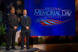 Co-hosts Joe Mantegna and Gary Sinise dedicate themselves to veteran's causes as well as troops in active service.