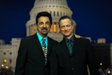 Co-hosts Joe Mantegna and Gary Sinise pose outside of the Capitol after the <i>National Memorial Day Concert</i>.