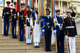 The Armed Forces Color Guard on the steps of the U.S. Capitol at the <i>National Memorial Day Concert</i>.