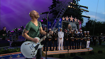 During the 2012 <em>National Memorial Day Concert</em> returning troops are honored by DAUGHTRY.