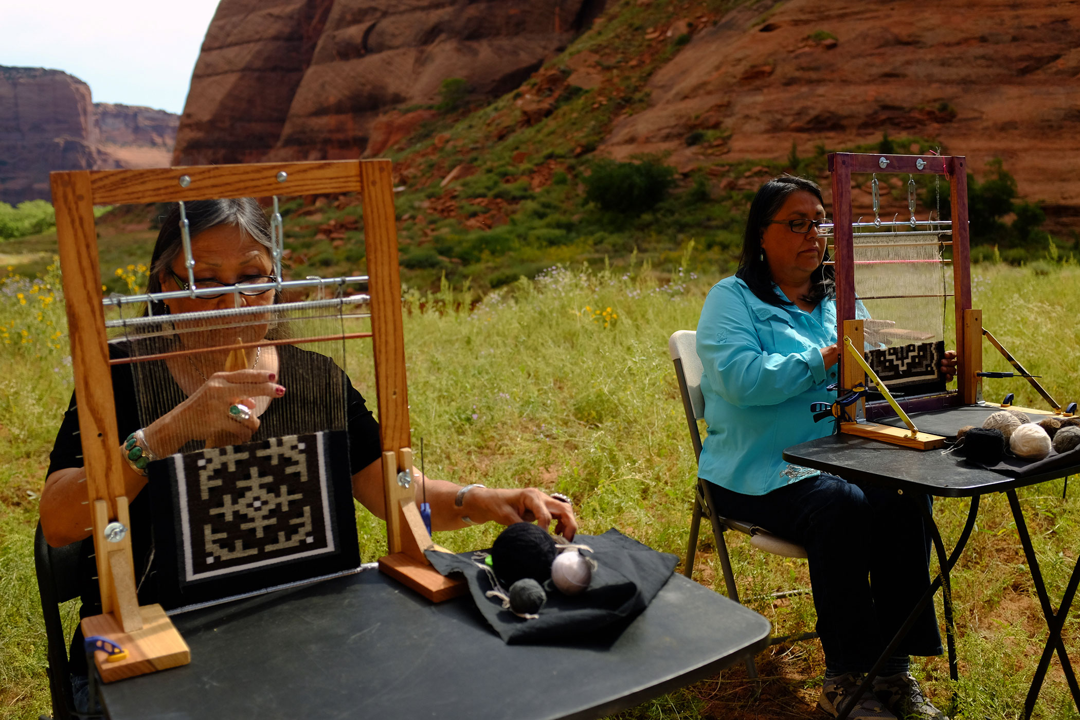 Our hour begins with the artistry of Navajo weavers Barbara Teller Ornelas and her sister Lynda Teller Pete , both of whom learned the craft of weaving the ...