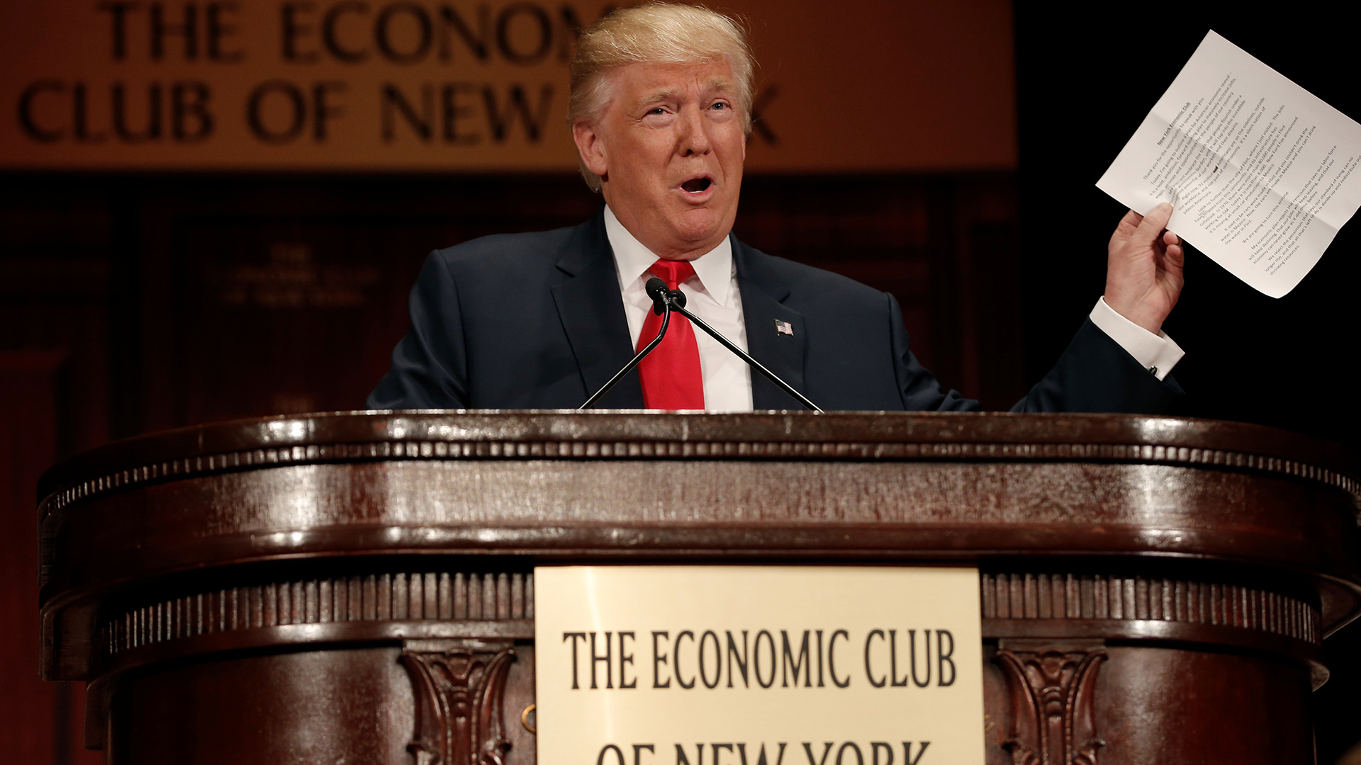 Trump outlines vision for economy, promising large tax cuts