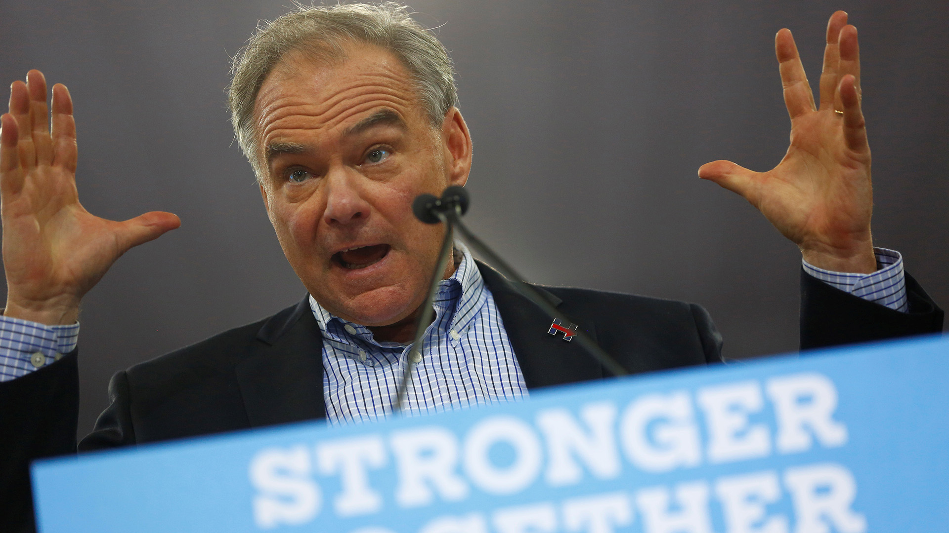 Kaine says Catholic Church might change on gay marriage