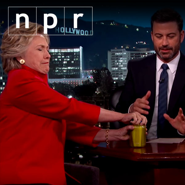 WATCH: Clinton opens pickle jar in response to health rumors