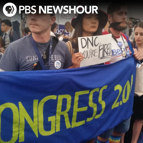Some Sanders supporters walk off convention floor