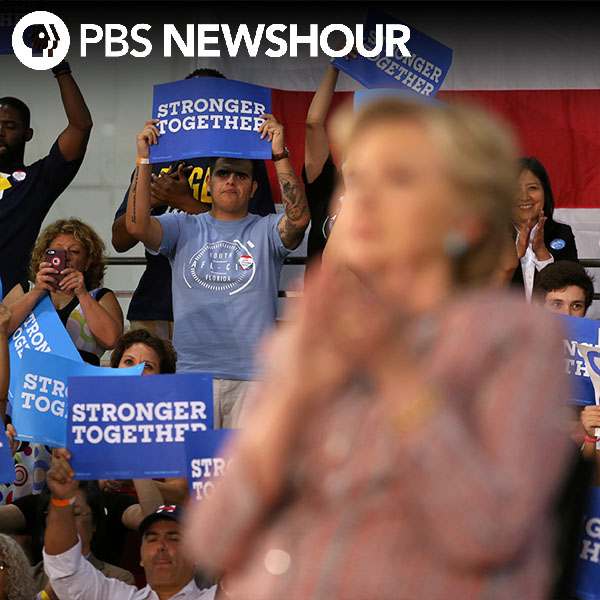 Late in the race, Clinton gains ground with young voters