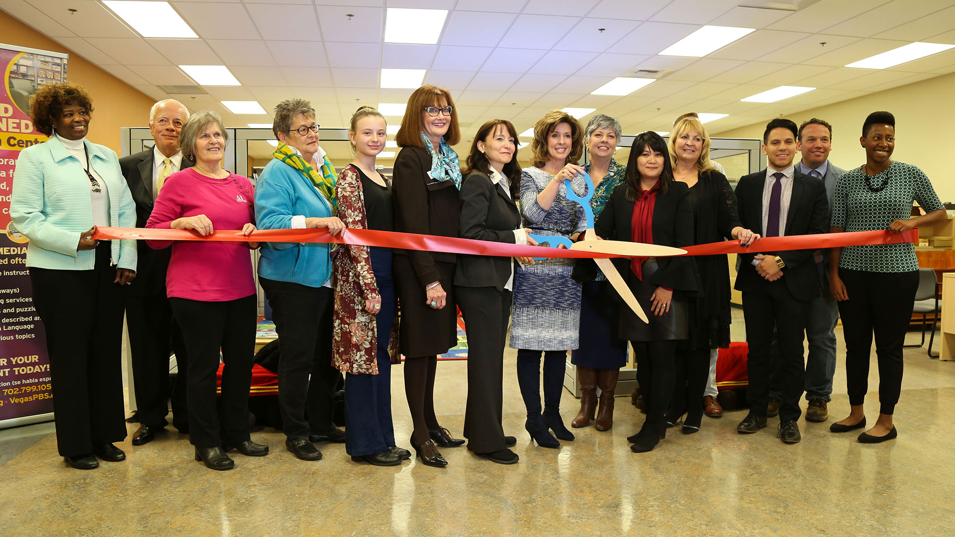 Special Needs Resource Library Ribbon Cutting