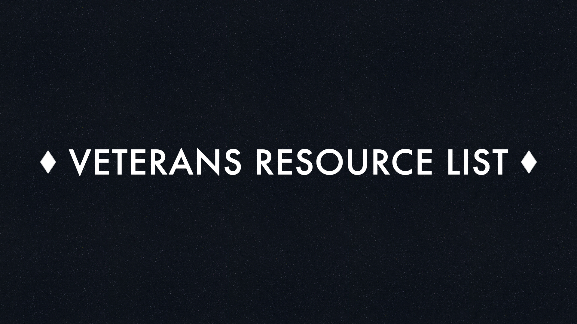 Veterans Resources