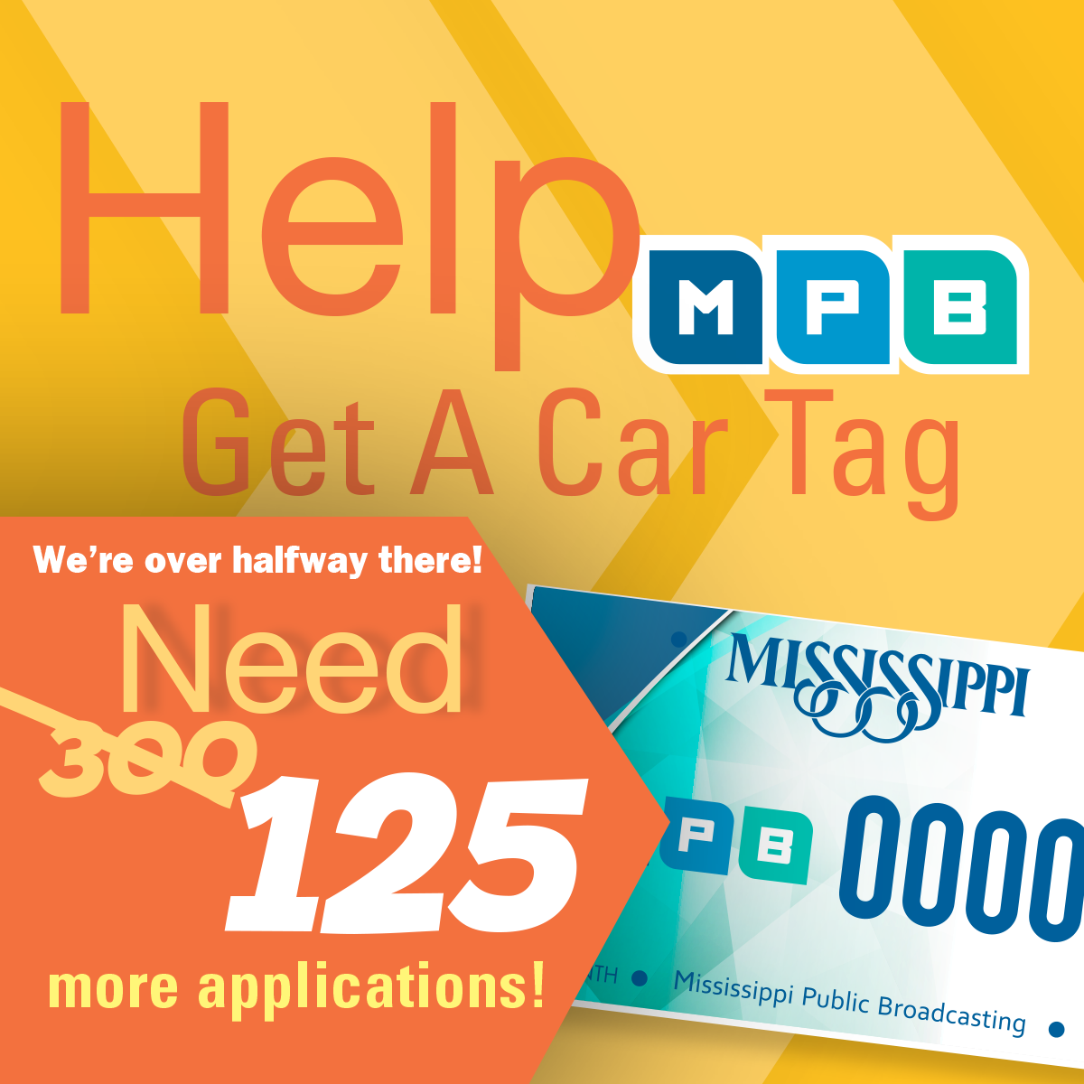 Sign-up for a customized MPB Car Tag!