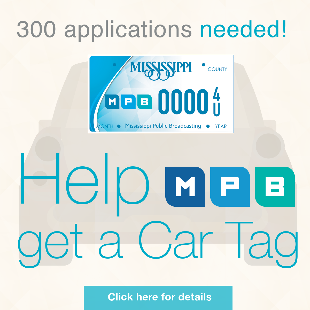 Grab your MPB Car Tag and support your local public broadcasting station