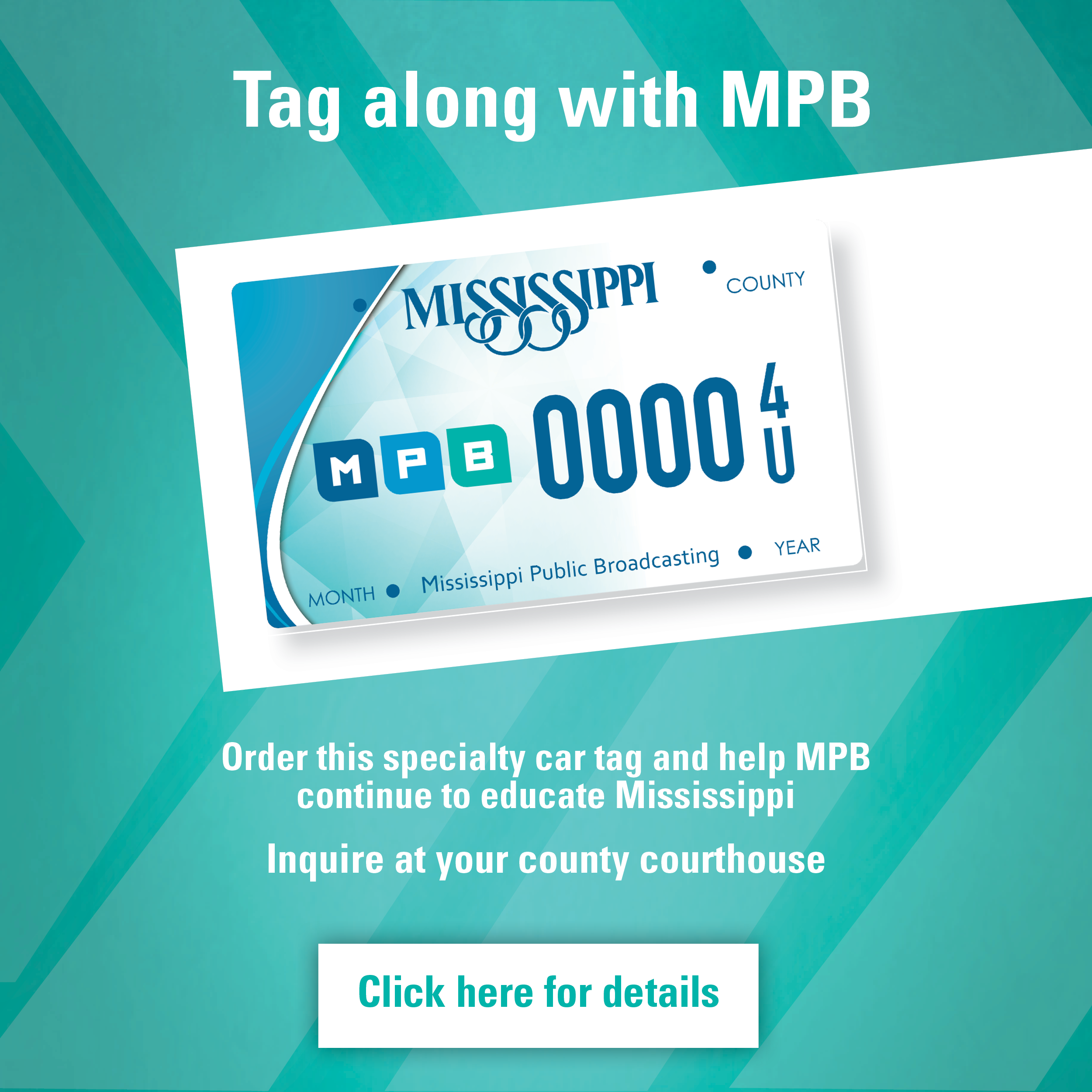 Tag along with MPB with a new MPB Car Tag!