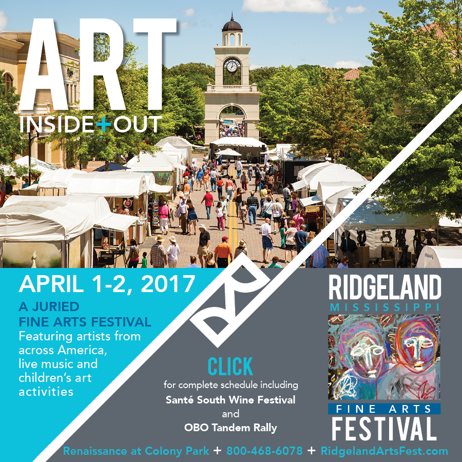 Art Inside Out, April 1-2, 2017 in Ridgeland Mississippi.
