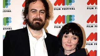 Essie Davis and husband