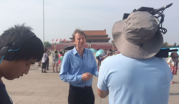 Michael Wood in Tiananmen square