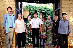 Michael Wood with a Uighur family