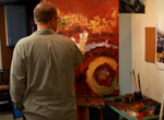 Oil painter Daniel Brown of Troy, who finds inspiration on Craig's List