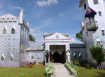 Artist Howard Solomon and his medieval castle-like home and gallery