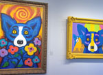 George Rodrigue brings art to school children