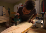 Skateboard artists Nick and Kelli Lambiase of Longline Skateboards: http://LonglineSkateboards.com