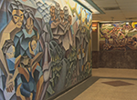 The walls of Texas Southern University are covered in murals painted by students over the past 60 years