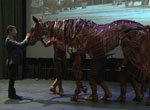 The talented puppeteers behind the stage production of War Horse