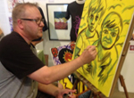 Tom Watson, an artist whose work reflects on his stroke and recovery